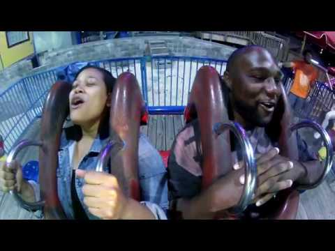 Funny Couple Reaction Slingshot Ride Myrtle Beach