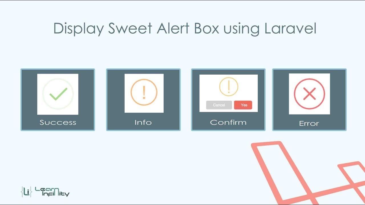 Display Sweet Alert using Laravel