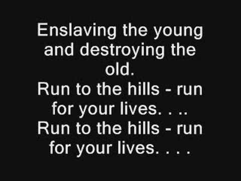Run to the Hills With Lyrics by Iron Maiden