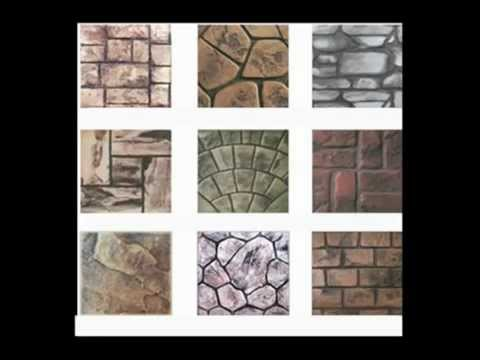 Moldes para estampar un piso de concreto y colores para - Moldes de cemento ...
