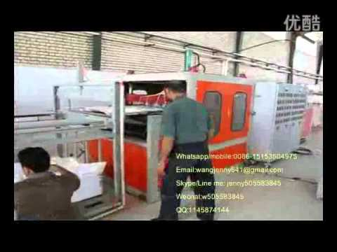 semi automatic ps foam food container production line/fast food boxes machine/EPS Processing machine