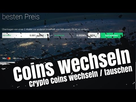 🌀 Krypto Coins wechseln / Coins tauschen mit Crypto Exchange von Changelly