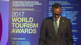 President Kagame speaks at 2017 World Tourism Awards | London, 6 November 2017
