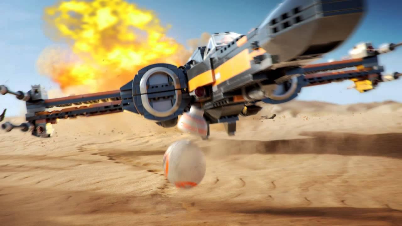 LEGO Star Wars X Wing De Poe Contra Kylo Ren YouTube