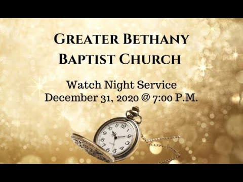 12-31-20 - 2020 Watch Night Service