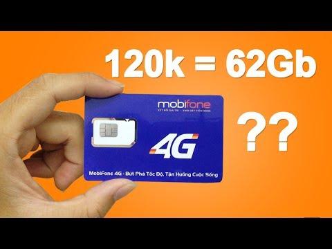 Trên Tay Sim 4G Mobifone 120.000đ được 62Gb