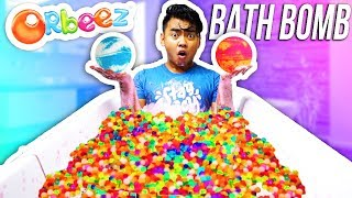 What Happens When You Put Bath Bombs In Orbeez? ORBEEZ BATH BOMB EXPERIMENT!