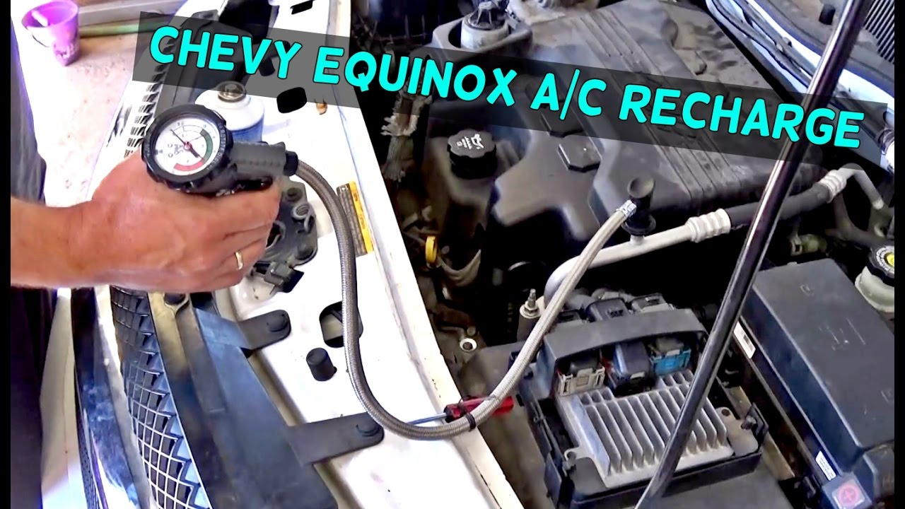 chevrolet equinox ac recharge air conditioner refill 2005 2006 2007 2008 2009 pontiac torrent [ 1280 x 720 Pixel ]