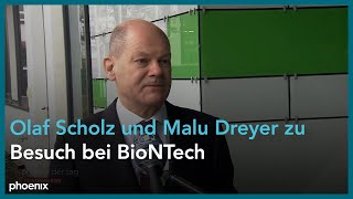 Statements von Olaf Scholz, Malu Dreyer und Uğur Şahin bei BioNTech