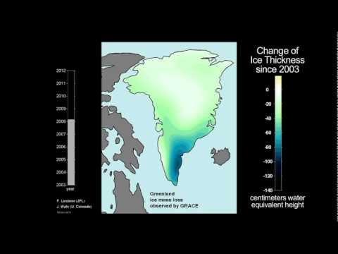Ice Mass Loss on Greenland (2003-2011) [720p]