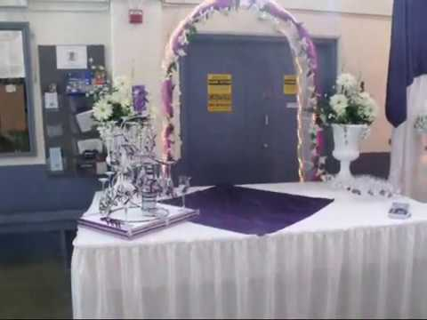 Faos events decoracion color morado youtube for Mesas y sillas para xv anos