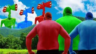 Team Hulk VS Green Siren Head VS Blue Siren Head VS Red Siren Head