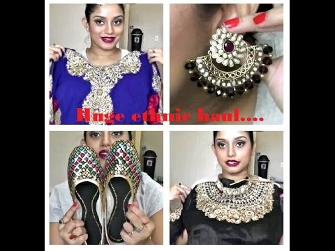 Huge ethnic/ Indian haul.. Sarees, anarkali,jewelry and shoes.