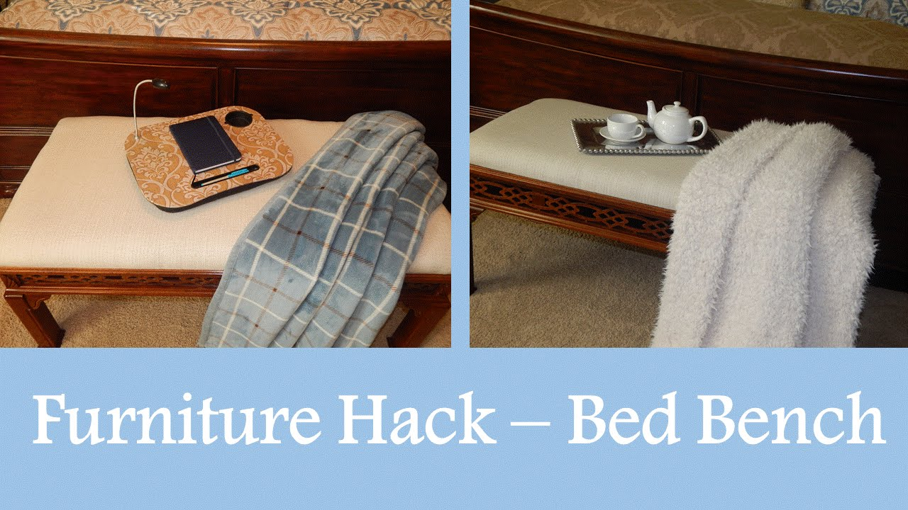 Furniture Hack   DIY Coffee Table UPCYCLED To Bed Bench   YouTube