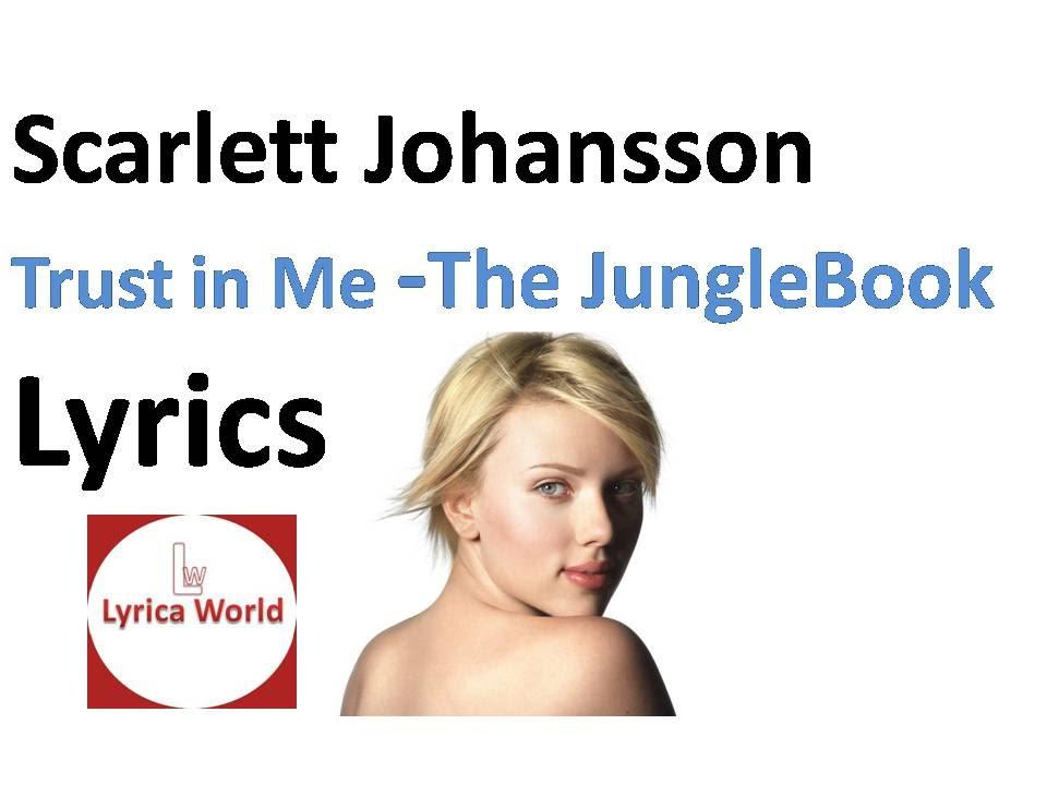 Scarlett Johansson - Trust in Me (Lyrics) Video 2016 From -The ...