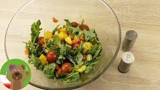 Sałatka z rukolą i mango | przepis na dressing z octem balsamicznym, musztardą i miodem