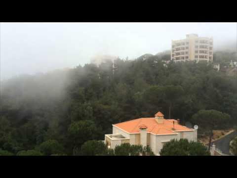 Fog in Bhersaf, Lebanon