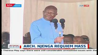 Archbishop Njenga has been a friend of mine for 73 years- Moody Awori at Njenga's mass funeral