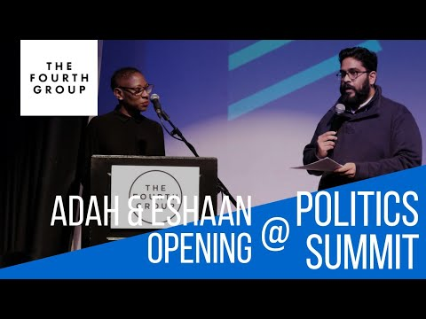 Adah Parris and Eshaan Akbar open Politics Summit 2018