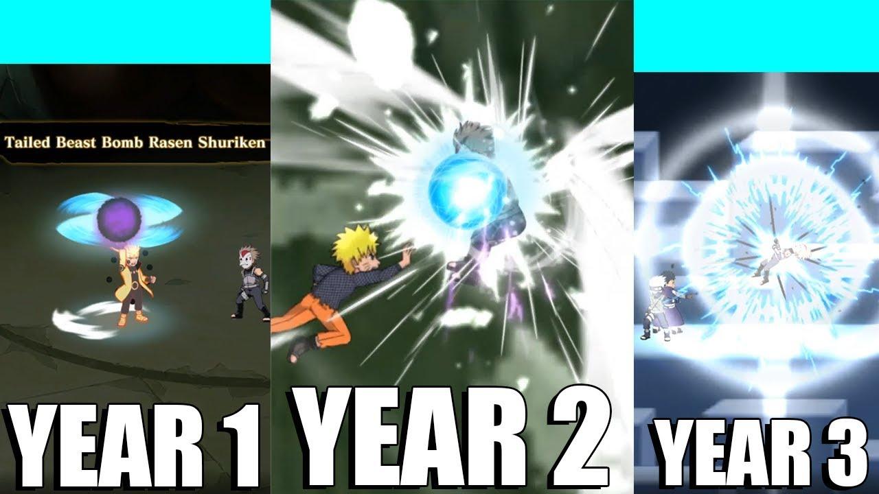 Naruto Blazing - Every Ninjutsu / Secret Technique from Blazing Festivals  (3 Years of Blazing)