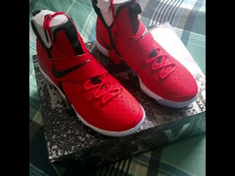 4a82e0175577a Nike LeBron 14 University Red Red Brick Road Review - YouTube