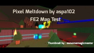 (Difficult) Pixel Meltdown by aspa102 | Roblox FE2 Map Test