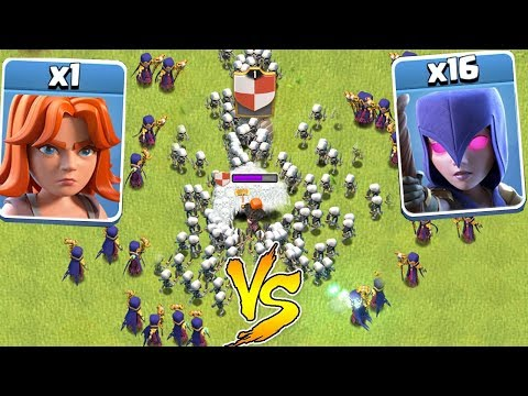 1 TROOP Vs. ALL WITCHES!!! | clash of clans | WHO WILL WIN!!!
