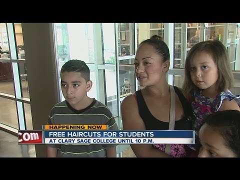 Parents save money with free haircut services at local college