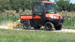 UTV Hitchworks - The Farmboy using a box blade on the Kubota RTV 1100