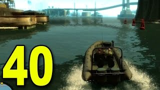 Grand Theft Auto 4 - Part 40 - Boat Getaway! (Let's Play / Walkthrough / Guide)