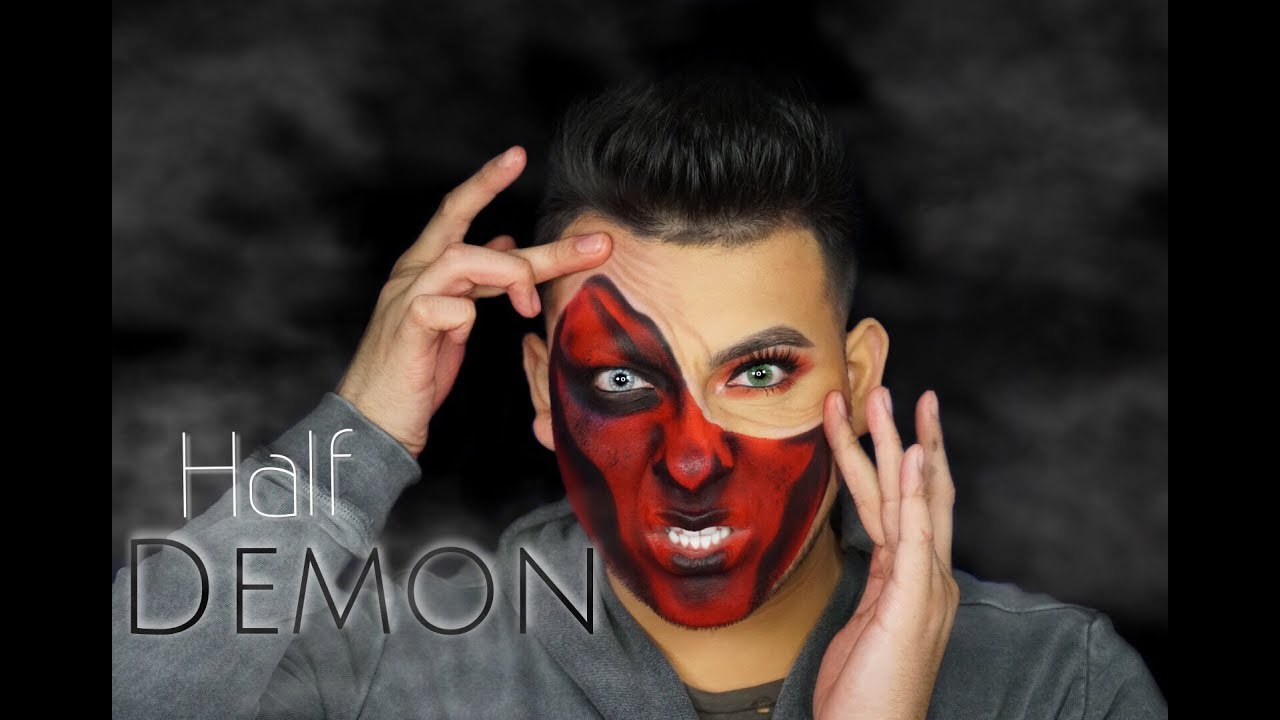 demon face makeup tutorial � saubhaya makeup