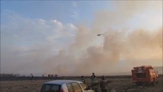 Вертолёт отбил деревню у огня