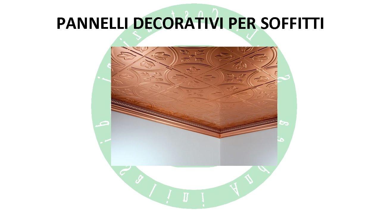 Pannelli decorativi per soffitti youtube for Pannelli in polistirolo per soffitti