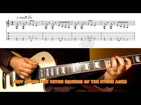 Burn The Witch RIFF (Queens Of The Stone Age) GUITAR LESSON With TAB
