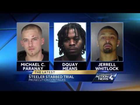 Witness testifies in trial of men accused of stabbing Mike Adams