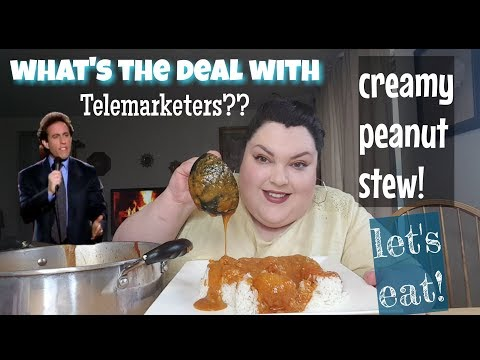 PEANUT STEW AND RICE MUKBANG EATING SHOW AND STORYTIME
