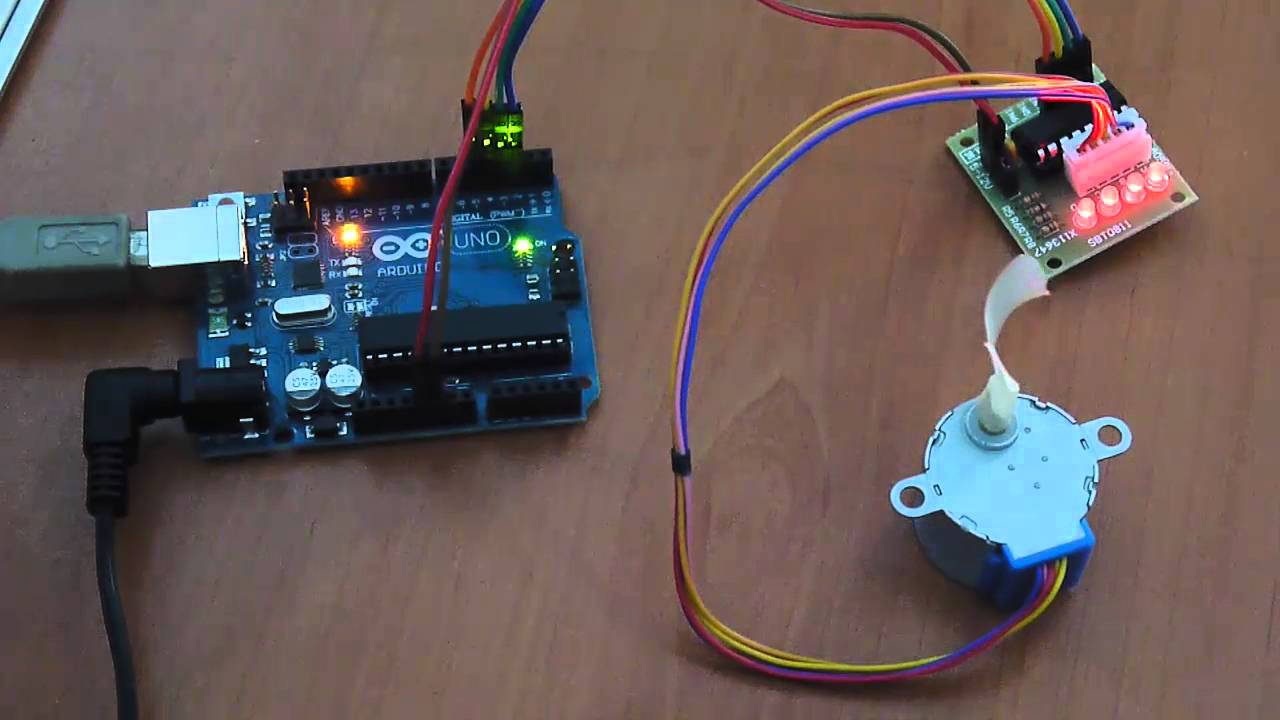 Arduino And Step Motor Controller Uln2003 Youtube