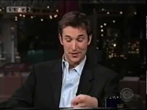 Noah Wyle on Letterman - 2001