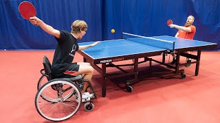 Wheelchair Table Tennis ft. Pro Player