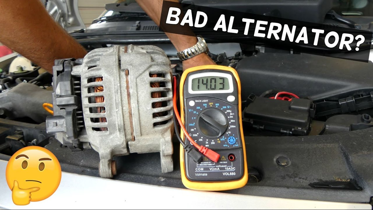 how to know if your alternator is bad demonstrated on audi
