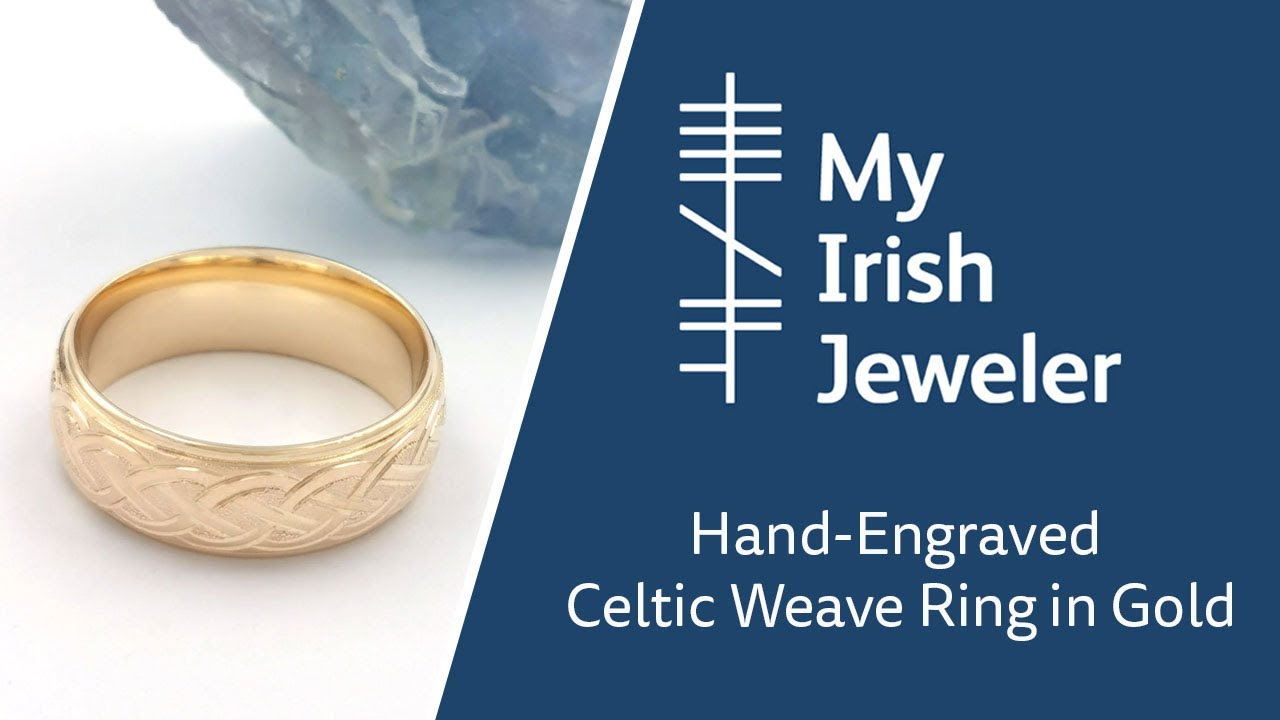 Hand-Engraved Celtic Knot Ring in Yellow Gold - YouTube