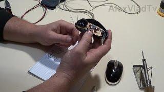Проводная USB - мышь, распиновка контактов, замена провода. Repair wire mouse, usb cable.