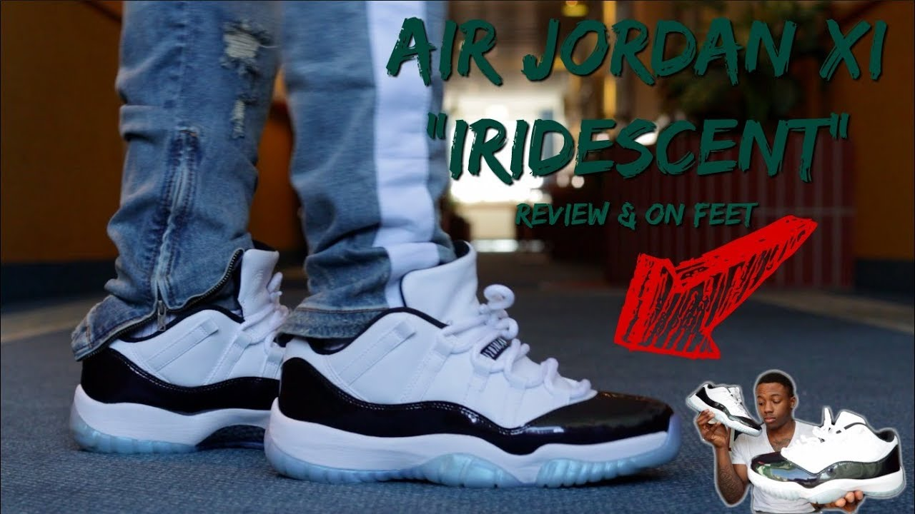 "253d82c2454 AIR JORDAN 11 LOW ""IRIDESCENT"" REVIEW w  ON FEET!!! GOT THESE FOR ONLY  130  🔥🔥🔥🔥"