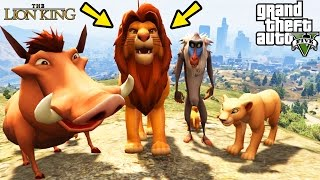 GTA 5 Mods 'THE LION KING MOD' (GTA 5 Lion King Movie Mod, Lion King, GTA Funny Moments Compilation)