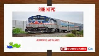 rrb ntpc job profile and salaries
