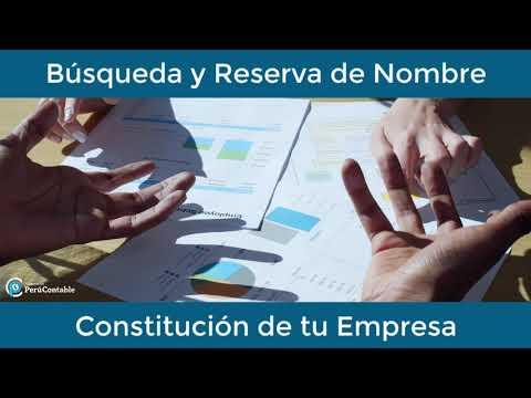 Búsqueda y Reserva de Nombre - Constitución de tu Empresa