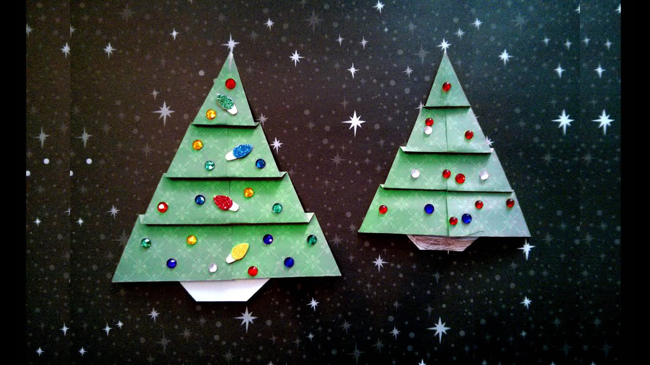 Easy Origami Christmas Tree difficulty 210