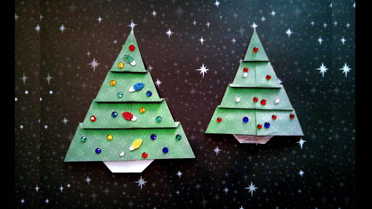 Easy Origami Christmas Tree (difficulty 2/10) 折り紙クリスマスツリー ...
