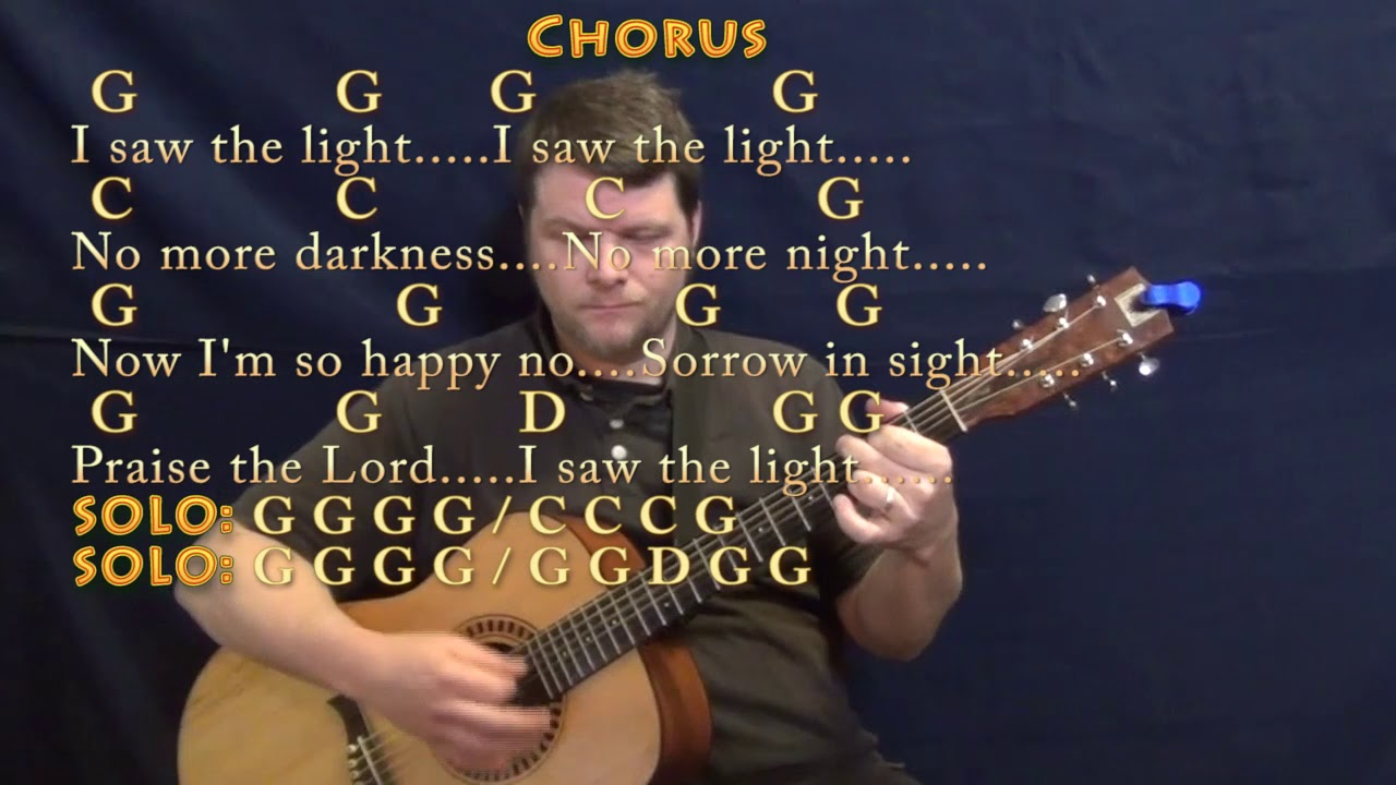 I Saw The Light Hank Williams Guitar Lesson Chord Chart With