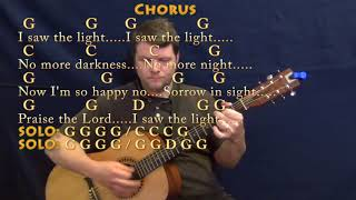 I Saw The Light (Hank Williams) Guitar Lesson Chord Chart with Chords/Lyrics
